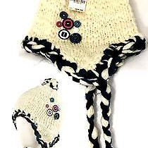 American Rag Ribbon & Button Crafty Trapper Winter Hat (Ivory) Nwt Photo