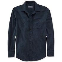 American Rag Solid Flannel Shirt - Arctic Night Photo