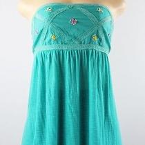 American Rag Strapless Top W Decoration Ceramic Blue Size S Lulu Photo