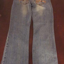 American Rag Stretch Flare Juniors Wome's Blue Denim Jeans Size 3r  Photo