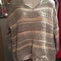American Rag Textured Striped Lace Hem Pullover Tunic Sweater Nwt 90 Sweater  Photo