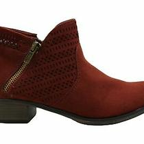 American Rag Womens Abby Almond Toe Ankle Fashion Boots Red Size 7.0 Photo