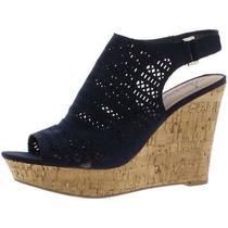 American Rag Womens Charlize Navy Wedge Sandals Shoes 11 Medium (Bm) Bhfo 4143 Photo