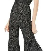 American Rag Womens Jumpsuit Classic Black Size Xl Floral Print 69- 221 Photo