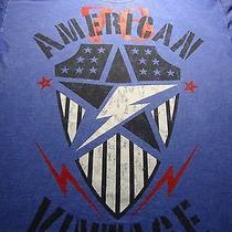 American Vintage 76 T Shirt Adult Large Short Sleeve Tee Stars Lightning Bolt Photo