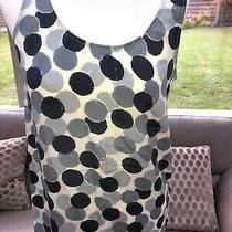 American Vintage - Grey Spotted 100% Silk Vest Top - Size S Photo