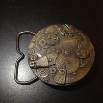 American Watch Co. 1978 Brass Belt Buckle Vintage Photo