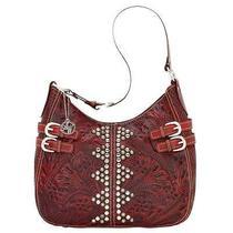 American West Cherokee Scooptop Hobo Bag - Red Photo