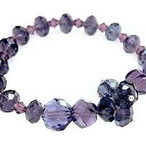 Amethyst Single Strand Six Element Crystal Bracelet Photo