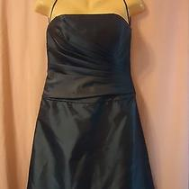 Amsale Beautiful Blue Strapless Dress Size 8 Photo