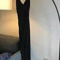 Amsale Black Jersey Long Gown Dress Formal Bridesmaid Size 0 Photo