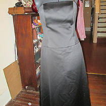 Amsale Brand Size 10 Black Strapless Prom Dress  Low Waist Photo