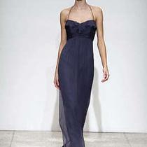 Amsale Bridesmaid Dress Chiffon G425c Size 8 Graphite Photo