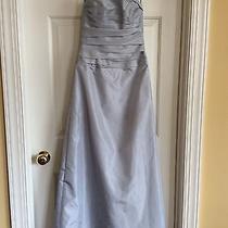 Amsale Bridesmaid/prom Dress Silver Size 4 Photo