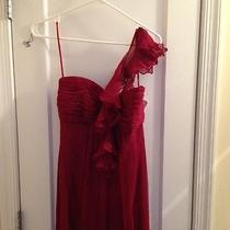 Amsale Cranberry Long Bridesmaid Dress -- Beautiful and Confortable Photo