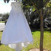 Amsale Designer Beaded Strapless Wedding Dress Photo