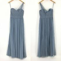 Amsale Light Blue Strapless Evening Gown Maxi Dress Womens Size 12 Photo