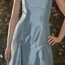 Amsale Ocean Blue Taffeta Strapless Evening Dress Sz 4 Nwot Photo