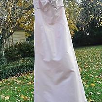 Amsale Sample Pink Empire Sleeveless Formal Dress 10 Taffeta Long Gown Photo