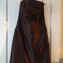 Amsale Short Strapless Dress Beautiful Brownsize 10 Prom Wedding Party Perfect  Photo