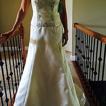 Amsale Size 10 Wedding Dress- Antique in Color-Brand New Never Worn Photo