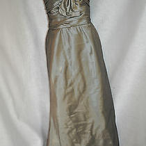 Amsale Size 12 Pewter Full-Length Wedding Bridesmaid Gown Dress Photo