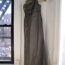 Amsale Taffeta Bridesmaid Dress G648t - Bronze Size 6 Photo