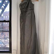 Amsale Taffeta Bridesmaid Dress G648t - Bronze Size 6 Photo