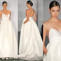 Amsale Wedding Dress Copy With Pockets Size 6  Photo