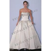 Amsale Wedding Dress Ivory Silk Photo