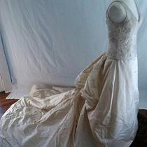 Amsale Wedding Dress Size 10 Dark Ivory Photo