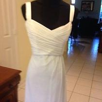Amsale White Silk Gown for Weddings and Other Formal Events Sz 10 Photo