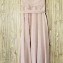 Amsale Womens a Line Dress Pink Belted Midi Drape Neck Halter Neck Tie Back 6 Photo