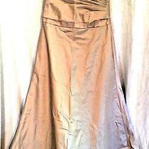 Amsale Womens Evening Dress Beige Size 8 Photo