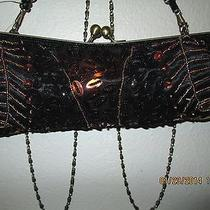 An Authentic Mattina T. Woman's Evening Hand Bag & Free Earrings Photo