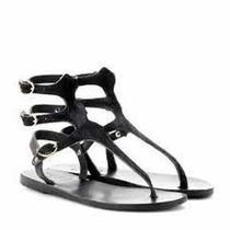 Ancient Greek Sandals Gladiator Calf Fur Buckle Sandals 38 Photo