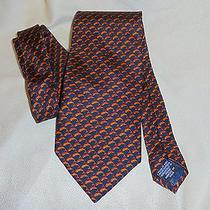 Andr'e Valentino (Made in Italy)  Dk Blue Tie W/dolphins   Euc Photo