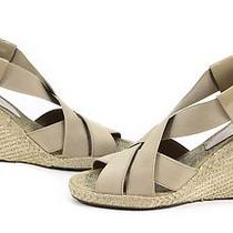 Andre Assous Womens Josie Mid Wedge Platform Sandal Taupe 8.5 New Photo