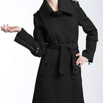 Andrew Marc 'Clover' Belted Wool Trench Coat (Size 12) Photo