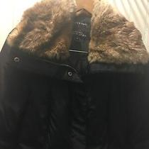 Andrew Marc Down Coat/ No Belt With Real Fur Collar Size M Photo
