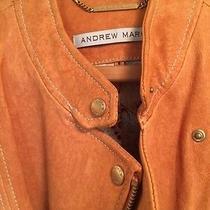 Andrew Marc Gorgeous Tan Leather Motorcycle Jacket Women Sz S  Photo