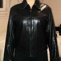 Andrew Marc Luxury Leather Jacket Xs Black Photo