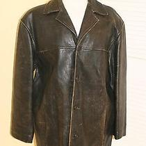 Andrew Marc Men's Brown Distressed Leather Size M Insulated Photo