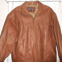 Andrew Marc Men's Leather Bomber Jacket Brown -M/m Photo