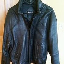 Andrew Marc Mens Leather Bomber / Motorcycle Jacket Size Medium Photo