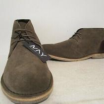 Andrew Marc Mens Walden Leather/suede Ankle Chukka Boot Dark Olive/darkbrown 12  Photo