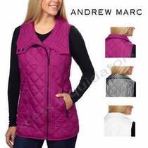 Andrew Marc Nwt Fuchsia Full Zip Quilted Vest Women's Size Medium New Photo