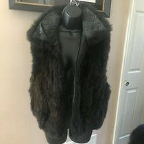 Andrew Marc Real Fur Vest Size S Photo
