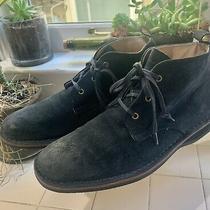 Andrew Marc Vtg Chukka Boots Size 9 Deep Blue Photo