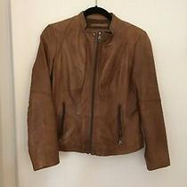 Andrew Marc Womens Brown Leather Jacket Xs Photo